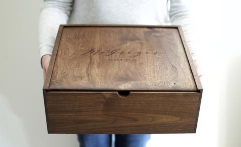 Large Walnut Keepsake Box