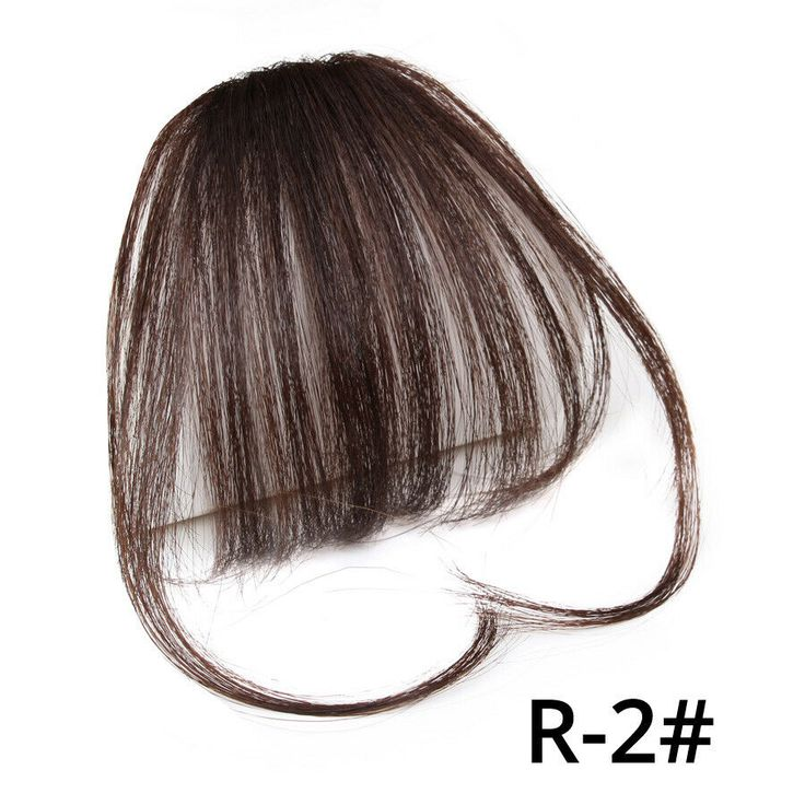 Natural Clip On Bangs Hair Extensions Synthetic Thin Air Hair Thick Fringe Bangs #Ad , #Affiliate, #Hair#Extensions#Bangs