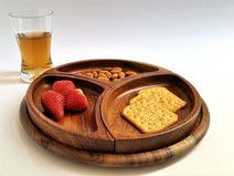 Wooden snack platter, tray, organic plate, Easter