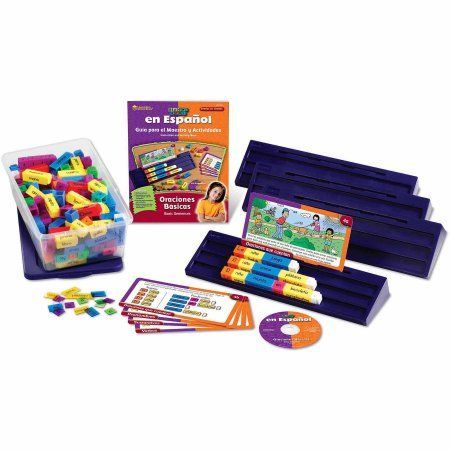 Learning Resources Spanish Read Rods Kit: Oraciones Basicas, Multicolor