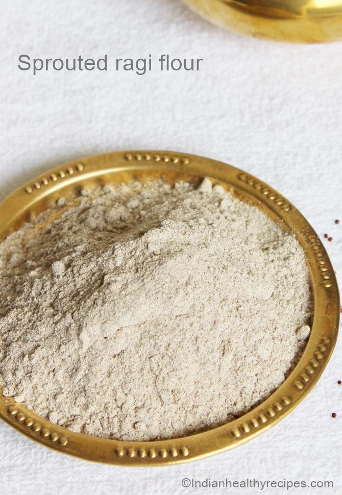 Ragi flour or ragi powder for making porridge for babies. It is widely used in the south India to make ragi dosa, mudde, malt, sankati and ambali