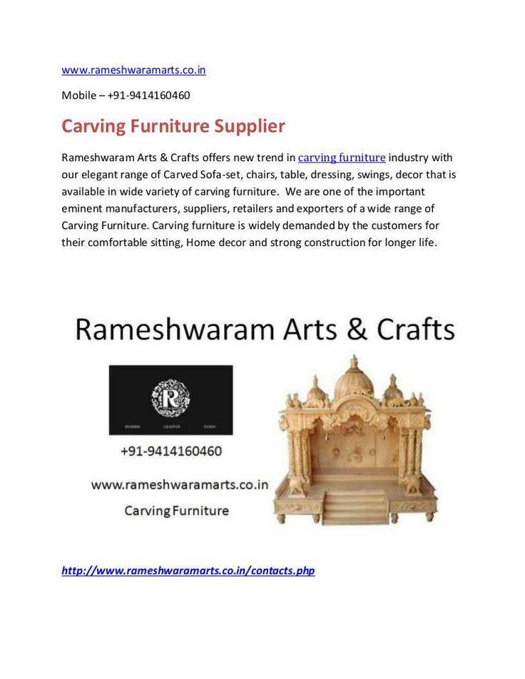 """Crving Furniture Supplier"" published by ""rameshwaramart"" on @edocr"