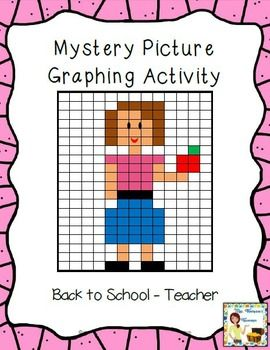 FREEBIE - Students will love discovering the mystery picture by coloring in the correct squares using the coordinates given. Two different work pages are included for differentiation! This is a great activity to use the first days of school to keep students engaged in an activity when you need time to help new students and get organized!