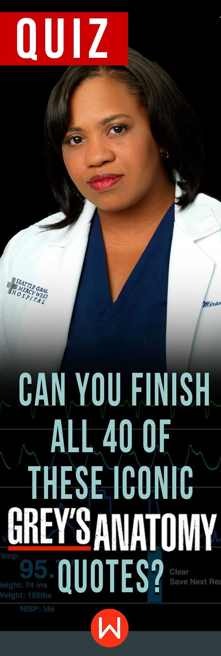 Are you the ultimate Grey's fan? Grey's Anatomy Quote Trivia. Can you identify who said these Grey's Anatomy quotes? How's your Grey's Anatomy doing? Test yourself on this GA trivia test. Miranda Bailey is looking at you! Shondaland, Shonda Rhimes, Grey's Anatomy quotes, GA quiz.