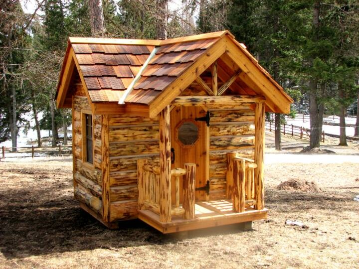 9 best images about log playhouse on pinterest play for Log home books