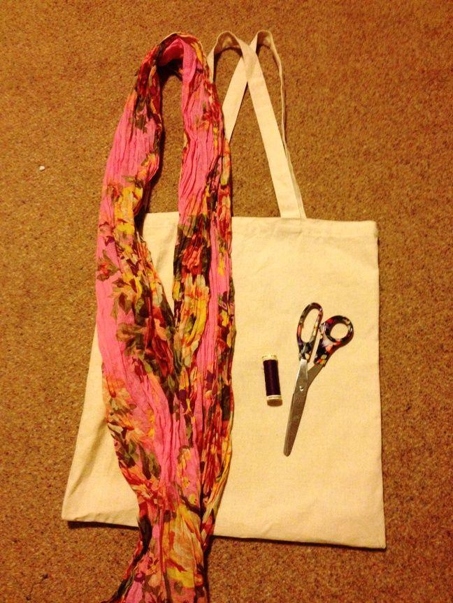 #DIY: #Bag & #Scarf Embellishment   #Fashion #blog   #Oxfam GB