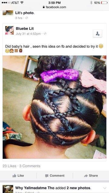Cute idea for babys hair