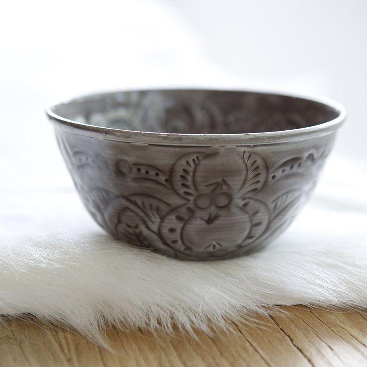 Beautiful Tin Bowl