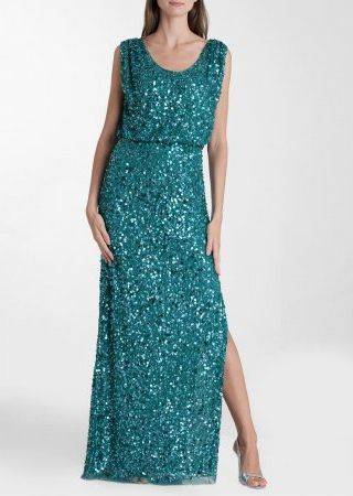 Платье - Js Collections | Sea Wave Blouson Gown