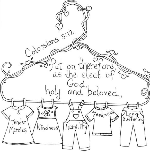 colossians 312 bible coloring page - Childrens Biblical Coloring Pages