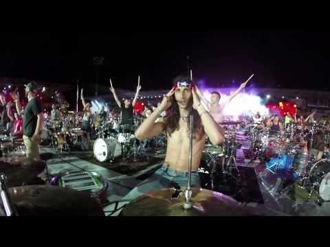 Rockin1000 That's Live 2016: Instrumental Medley, (drummers view & tricks) - YouTube