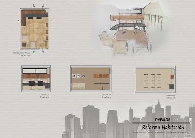 Reforma Habitación de Estudio. Para ver más sobre el proyecto, pinchar en la imagen y os lleva al blog