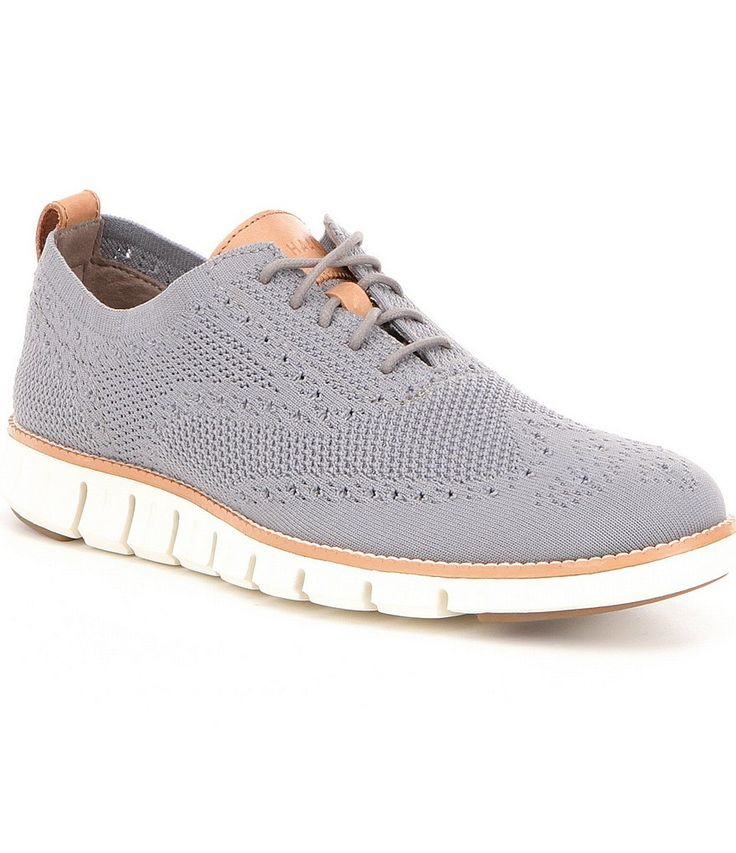 Ironstone/Ivory:Cole Haan Men´s Zerogrand Perforated Knit Lace Up Oxfords - $180