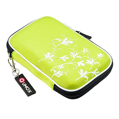 "From 3.30 Qumox Green (flower) 2.5"" Hdd Bag Hardcase For Portable Hard Disk Drive Case"
