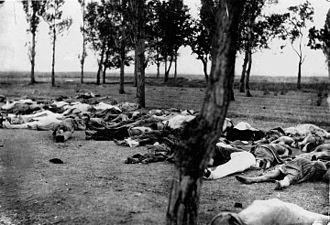 Le génocide arménien (1915-1916) perpétré par des Turcs
