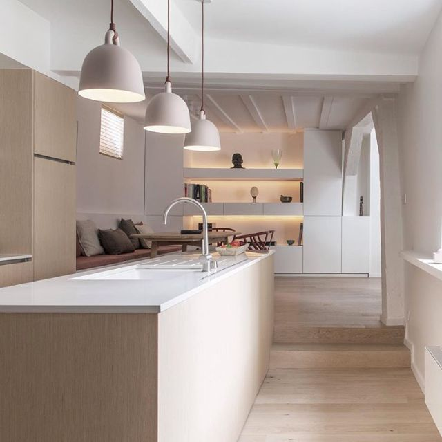 Love this stunning kitchen! Normann Copenhagen Bell lamp available at www.istome.co.uk