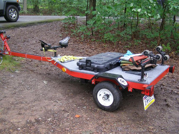 Build kayak trailer rack first i derp then i herp for Harbor freight fishing cart