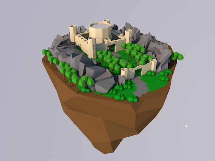 first_low_poly_castle_by_jaroldmoreno-dab2iem.png (800×600)