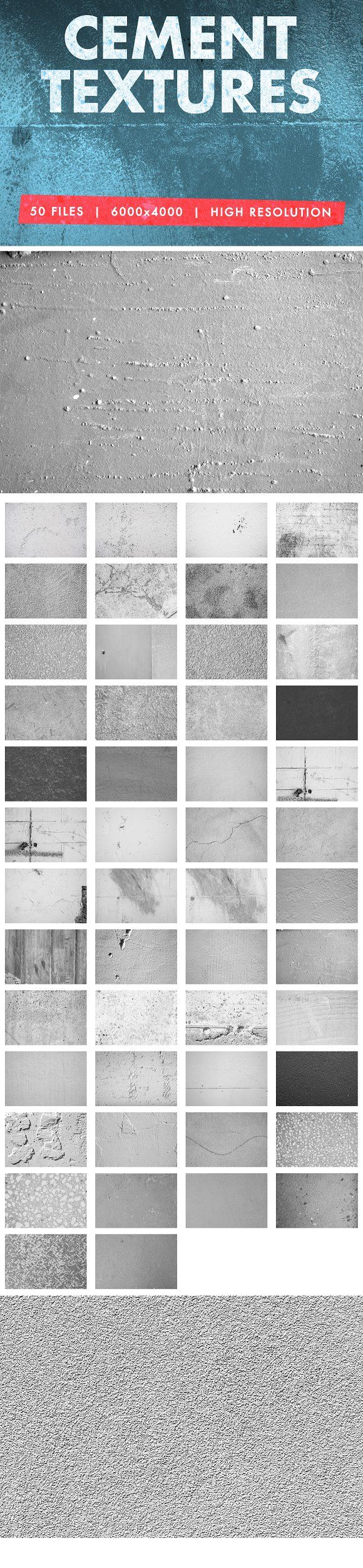 Free for a limited time!  Cement Textures Pack by Hugh Adams on @creativemarket  design, graphic, photoshop, jpg, background, ad, affiliate