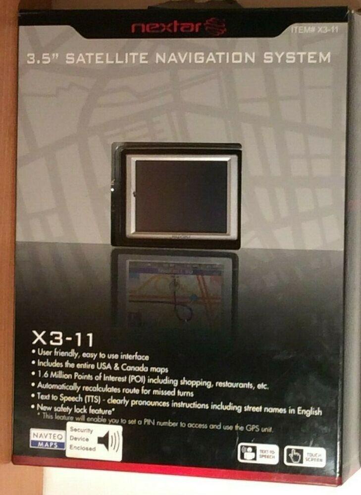Nextar Canada Map Download Nextar X3 03 Automotive Mountable GPS + Accessory Bundle Box