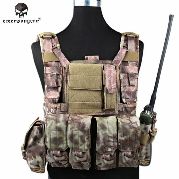 111.75$  Watch now - http://alis3g.worldwells.pw/go.php?t=32778085223 - Emerson RRV Tactical Vest with Pouches Set Police Camouflage Military Body Armor Hunting Vest Army Swat Molle Vest EM7443 HLD ^
