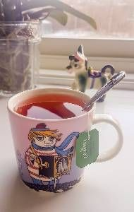 Todays Moomin Mug.  Too-ticky, violet. Read more about the mug in the next slides.