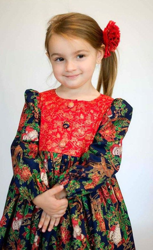 Christmas Dress for Girls - Sizes 2T to 8 years - Toddler Christmas Dress, Girls Christmas Dress - Holiday Dress - Red Dress - Long Sleeves #christmasdress #kidsfashion #christmasoutfit