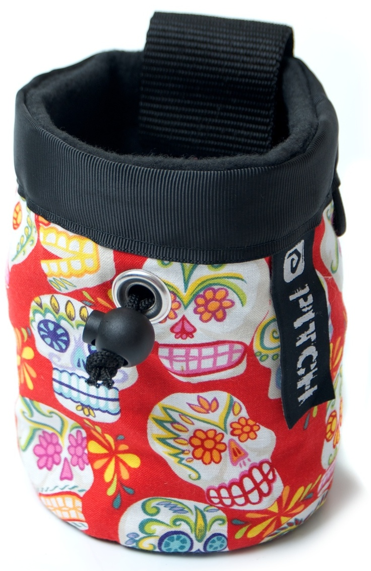 Red Pirate chalk bag (pitchclimbing.com)