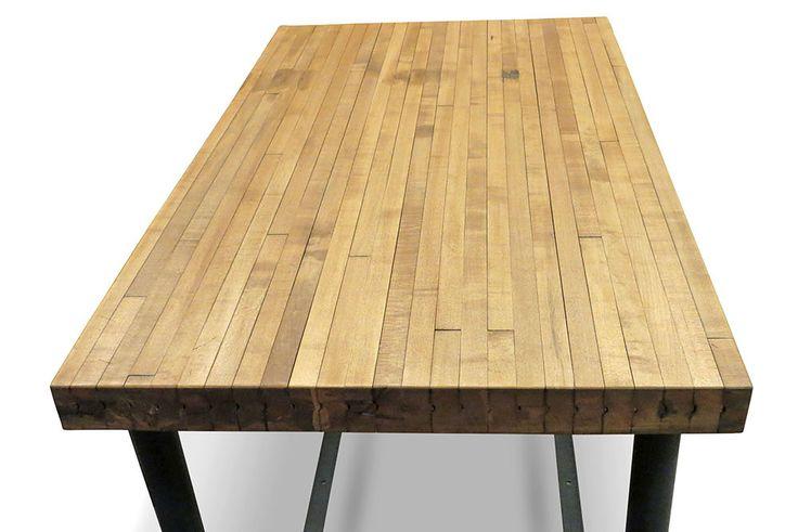 butcher block table plans entertainment pinterest