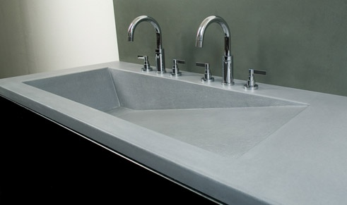 17 best images about molded in sinks on pinterest custom - Custom bathroom countertops with sink ...