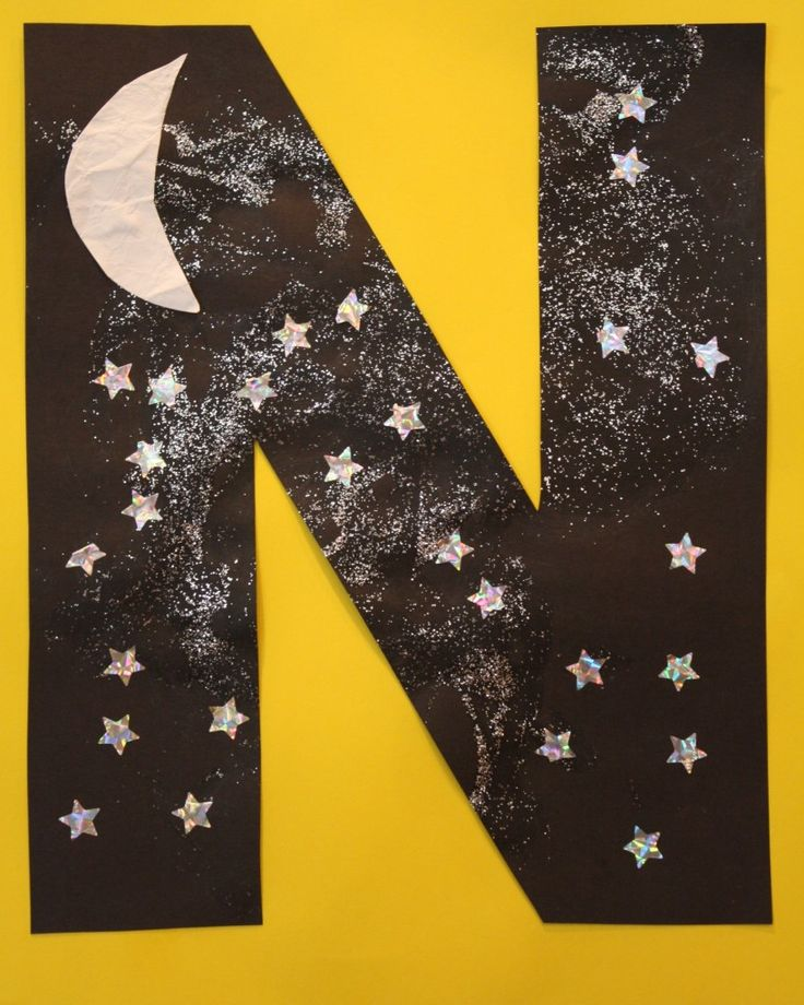 N is for Night Sky Letter Craft