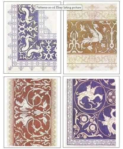 Vintage-Assisi-Mano-Bordado-Designs-italo-punto de cruz-patrones-on-CD