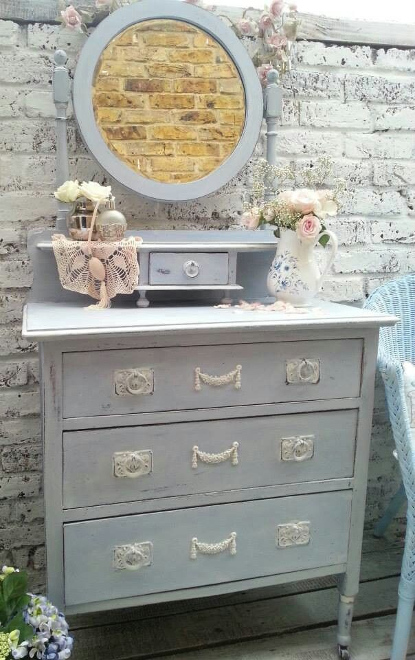 French cottage dressing table with Chic Mouldings. www.chicmouldings.com - 14 Best Chic Mouldings Chest Of Drawers Makeovers Images On