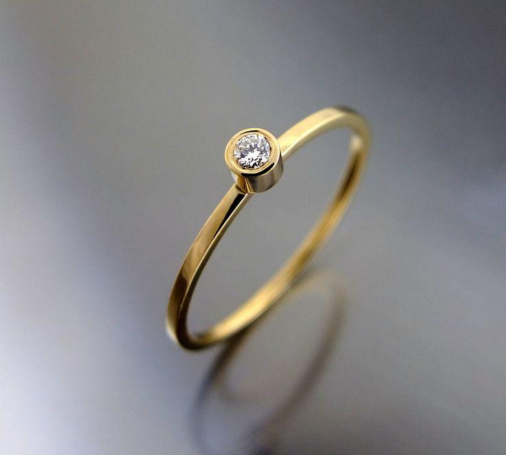 Pierścionek z kamieniem, brylant, pierścionek zaręczynowy