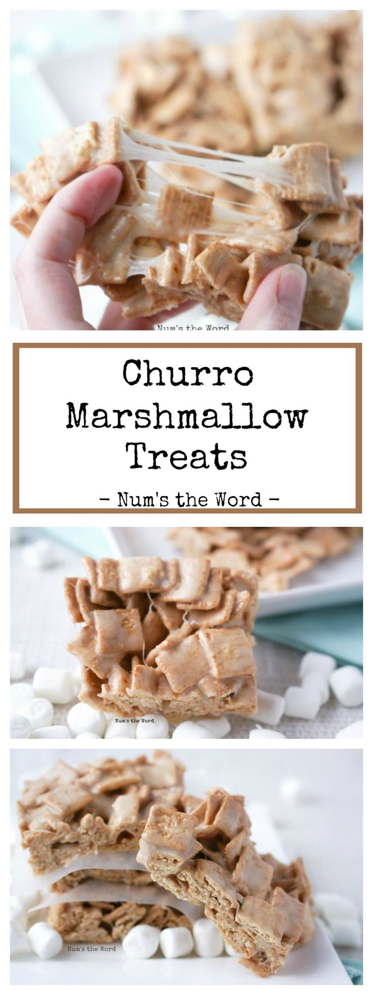 Churro Marshmallow Treats have 3 ingredients and are ready in 15 minutes.  Perfect for Cinco de Mayo or any day of the week!