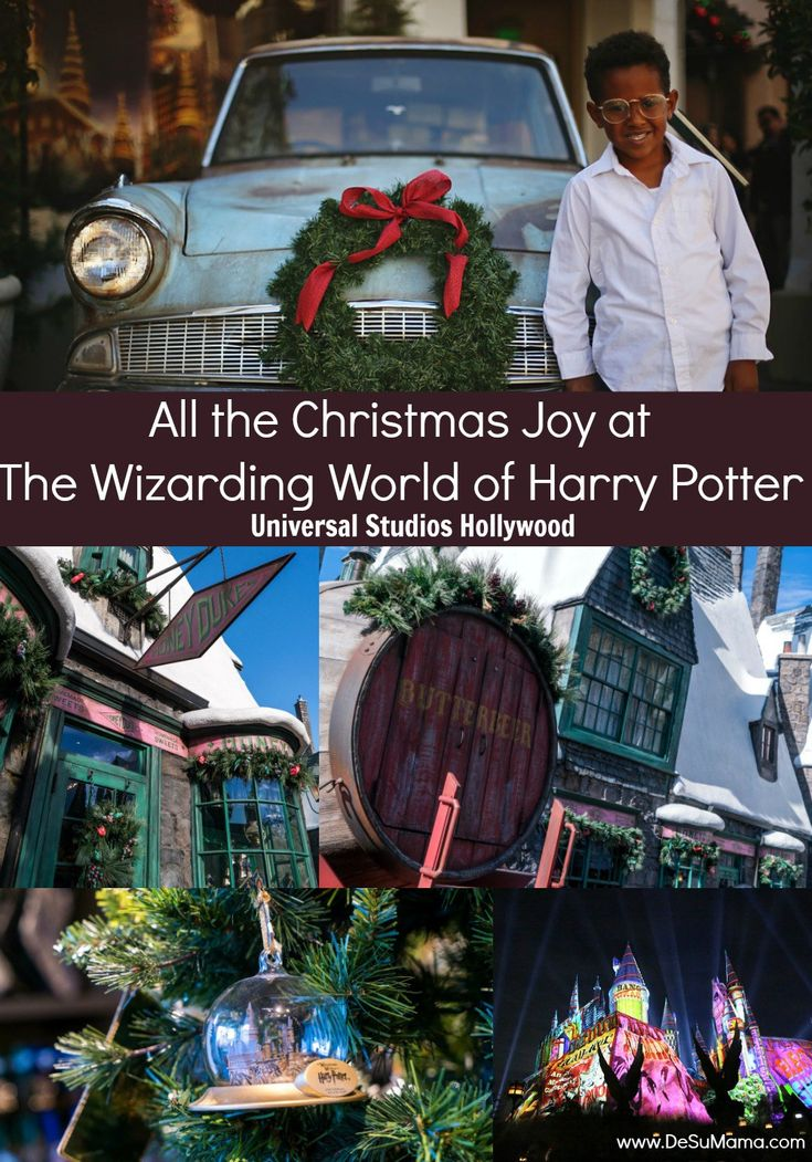 Universal Studios Christmas Harry Potter World Hollywood #travelwithkids