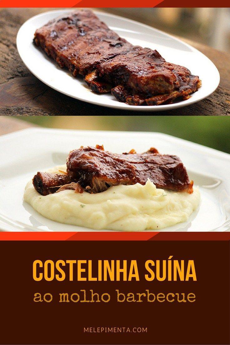 Costelinha suína ao molho barbecue - Aquela costela de carne de porco que desmancha na boca, igualzinha à costelinha do outback.    Confira a receita!!