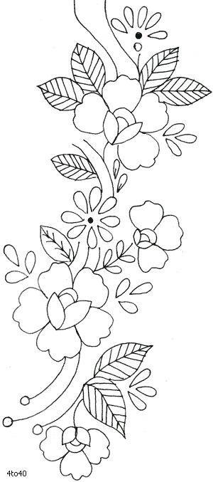 M s de 1000 ideas sobre dibujos de flores en pinterest - Cenefas para dibujar ...