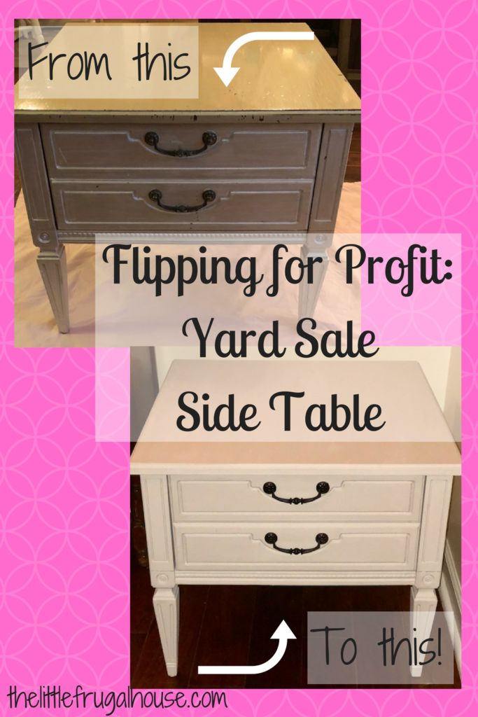 Flip for Profit: Yard Sale Side Table - The Little Frugal House