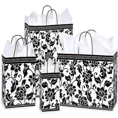 Floral Brocade Shopping Bags – B2BWraps.com