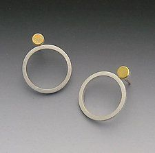Gold & Silver Earrings by Elisa Bongfeldt