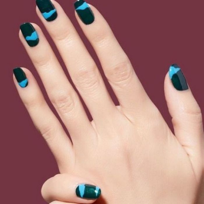 Yli 25 ainutlaatuista ideaa pinterestiss two color nails attention grabbing fall nail art ideas prinsesfo Images
