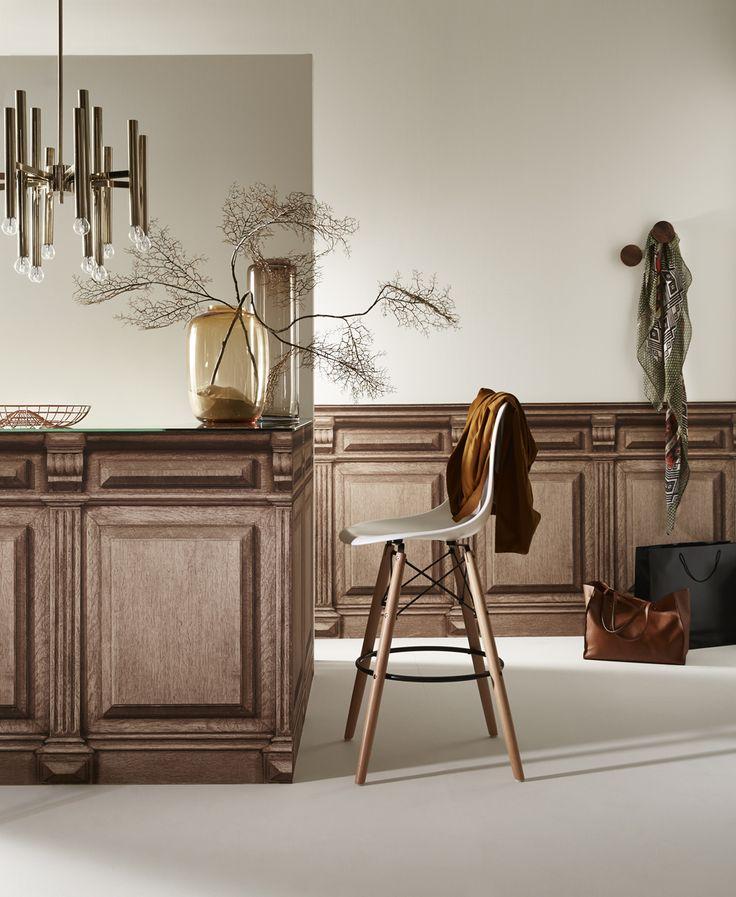 this is wallpaper retro counter trompe l 39 oeil wallpaper by koziel koziel pinterest r tro. Black Bedroom Furniture Sets. Home Design Ideas