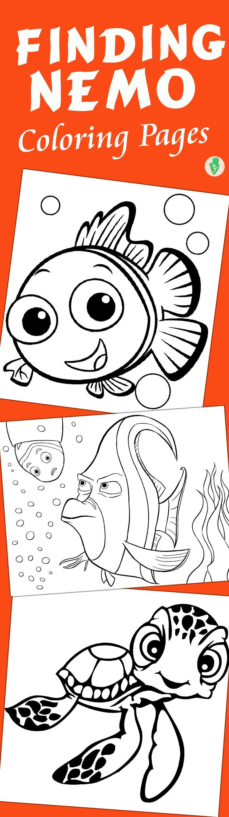 40 Finding Nemo Coloring Pages Free Printables Free