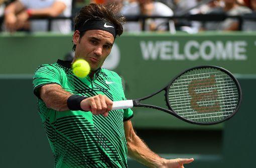Die einhändige Rückhand ist etwas für Ästheten und Könner wie Roger Federer, Grigor Dimitrov und Philipp Kohlschreiber. Foto: Getty