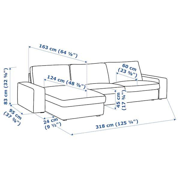 Kivik Sectional 4 Seat With Chaise Hillared Beige Ikea Losas Macizas Limpieza De Muebles Ikea