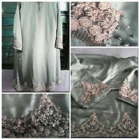 Tampal Lace pada Baju Kurung