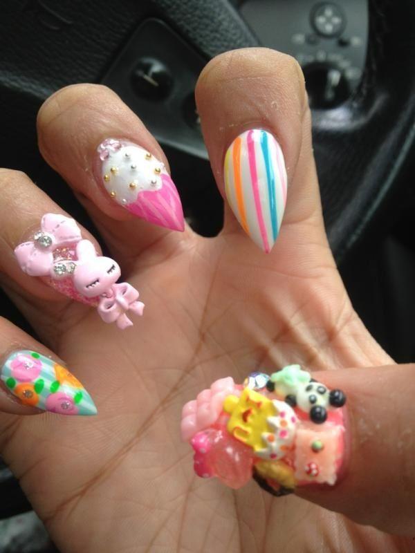 Nicki Minaj Pointy Nails
