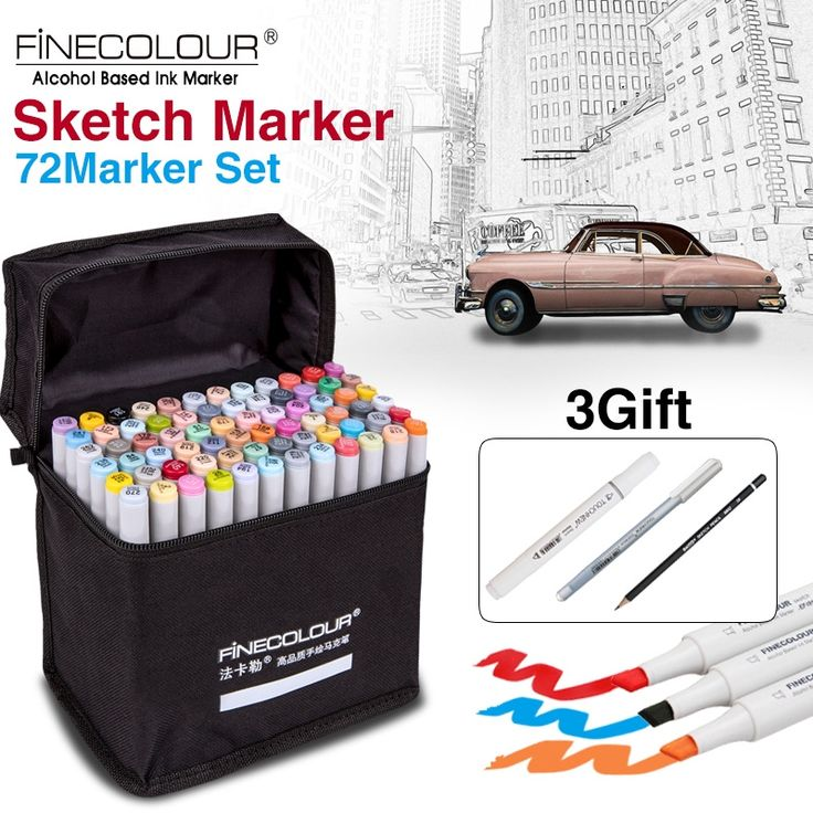 27.93$  Watch here - http://alit8x.shopchina.info/go.php?t=32505151578 - FINECOLOUR Artist Double Headed Sketch Copic Marker Set 36 48 60 72 Colors Alcohol Based Manga Art Markers for Design Supplies  #SHOPPING