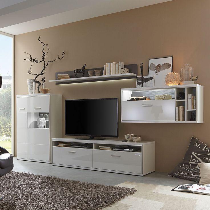 Wohnwand weiß grau hochglanz  Die besten 25+ Wohnwand hochglanz Ideen nur auf Pinterest | Tv ...